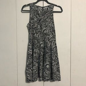 Aeropostale Black and White Patterned Dress